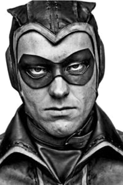 Nite Owl of the Minutemen (Watchmen DC Comics) movie version - face closeup