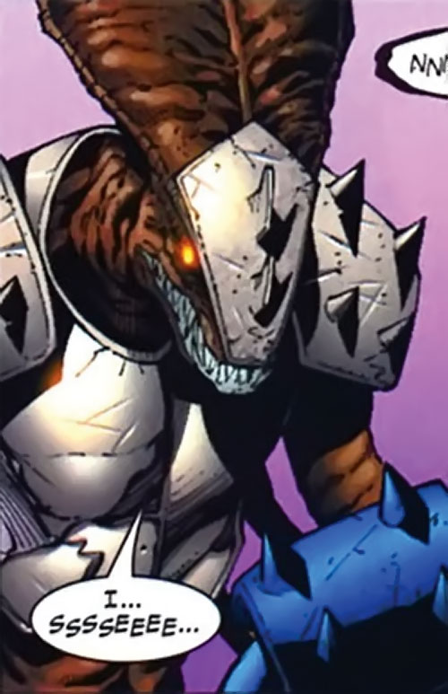 No-Name of the Warbound (Planet Hulk character) (Marvel Comics) in armor