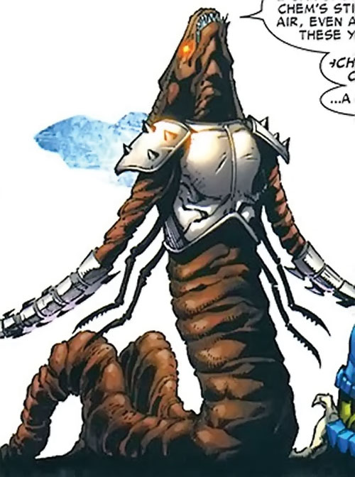 No-Name of the Brood (Planet Hulk character) (Marvel Comics) with gladiatorial armor