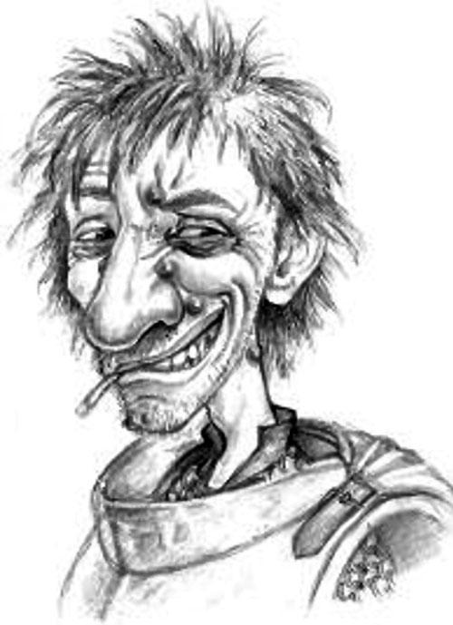Nobby Nobbs (Pratchett's Discworld watch) sketch portrait