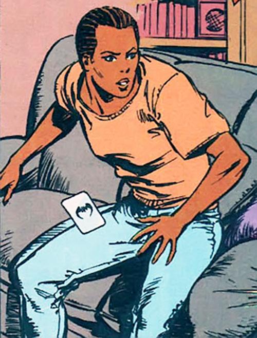 Angela Cairn (Nocturne) before her transformation (Marvel Comics)