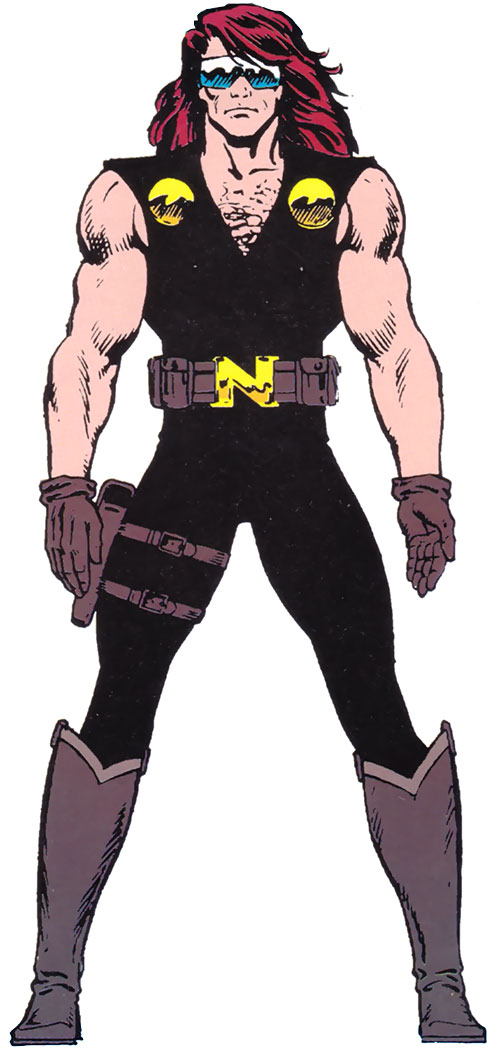 Nomad (Marvel Comics) with the black costume and goggles