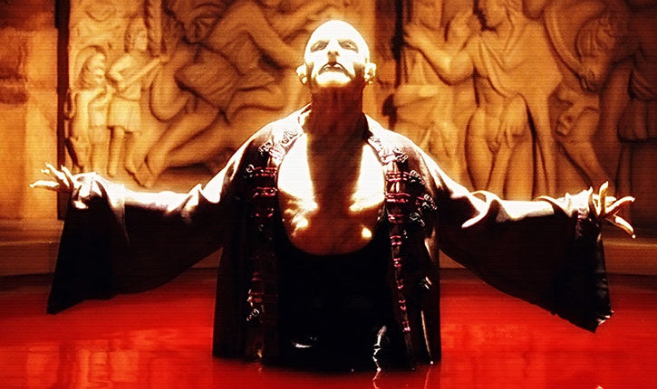 Nomak (Luke Goss) in a pool of blood