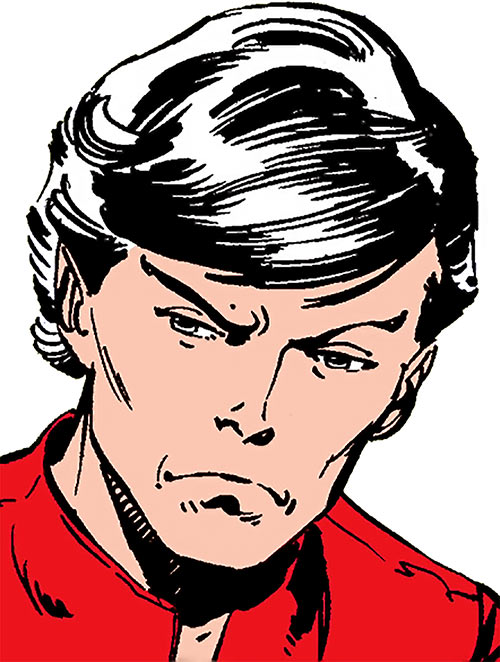 Northstar of Alpha Flight (Marvel Comics) face closeup