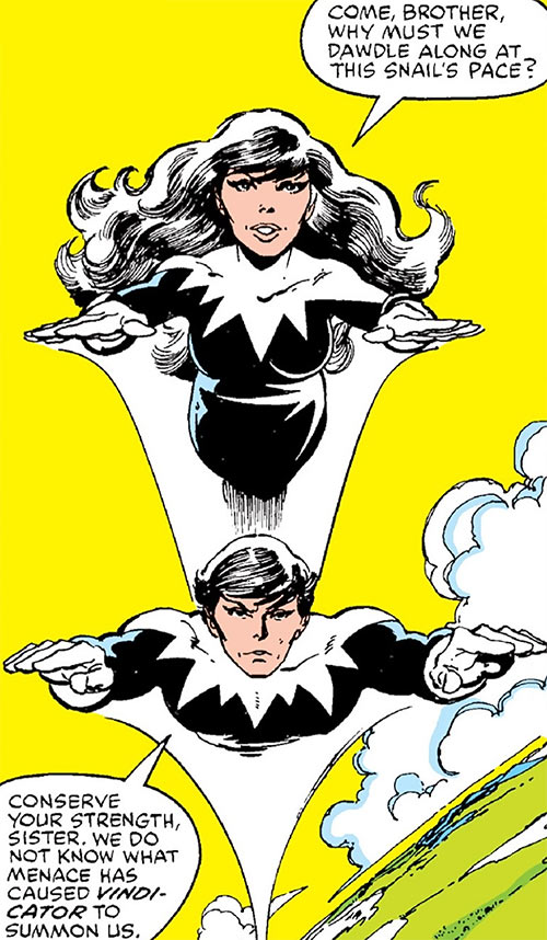Northstar of Alpha Flight (Marvel Comics) and Aurora