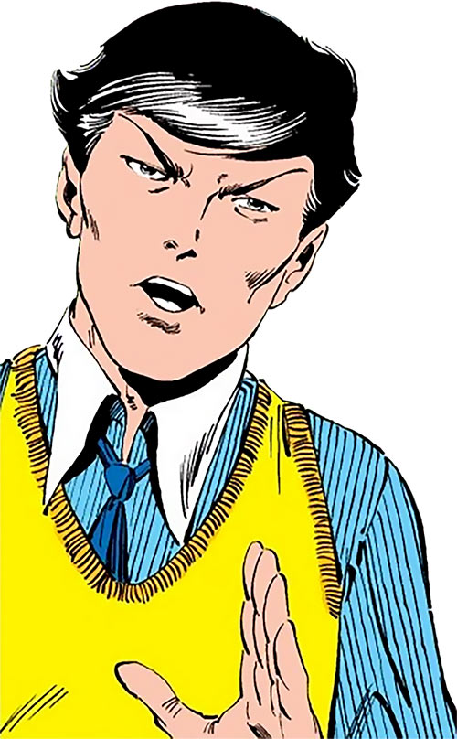 Northstar of Alpha Flight (Marvel Comics) in dated clothing