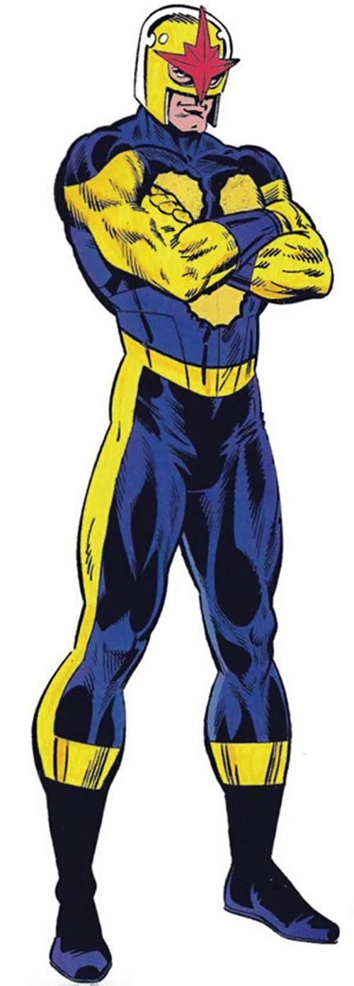 Nova (Richard Rider) (Marvel Comics) (Classic era) with arms crossed TSR art