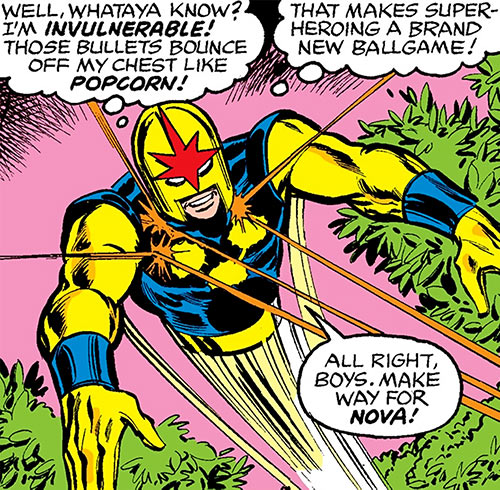 Nova (Richard Rider) (Marvel Comics) (Classic era) ignoring gunfire