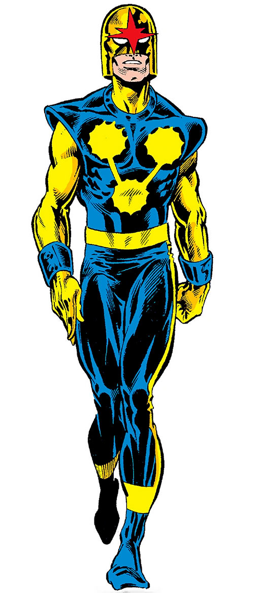 Nova (Richard Rider) (Marvel Comics) (Classic era) by Rick Leonardi in the OHOTMU