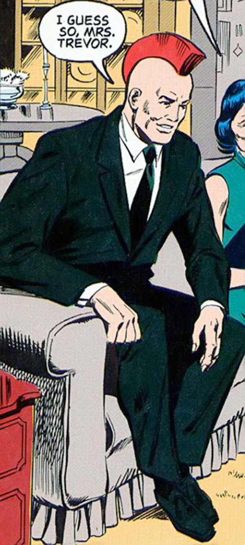 Nuklon of Infinity, Inc. (DC Comics) in a dark green suit