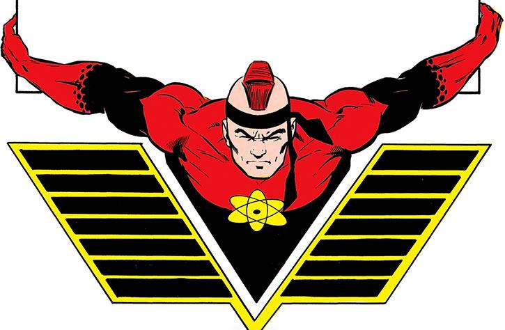 Nuklon (Albert Rothstein) in an Atlas-like pose (DC Comics) (Infinity Inc)