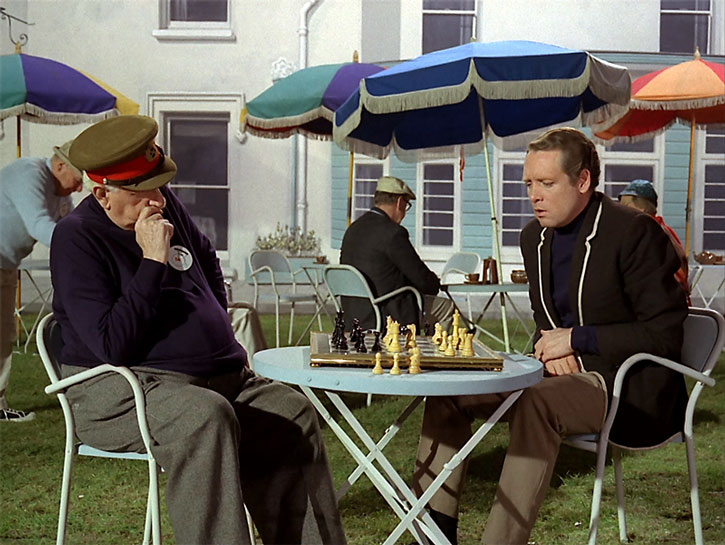 The Prisoner (Patrick McGoohan) playing chess