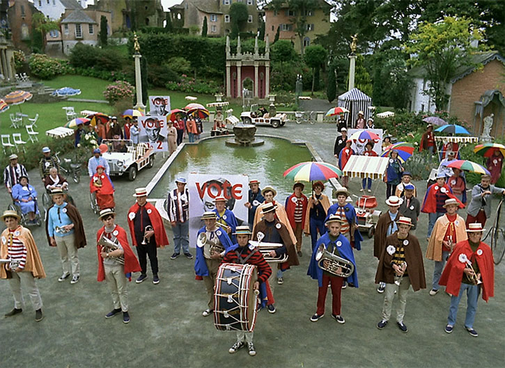The Village's band during an election