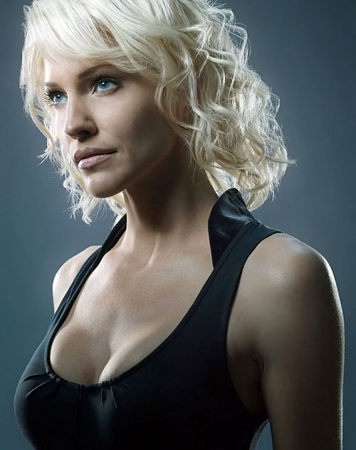 Number six caprica six tricia helfer battlestar for The woman in number 6