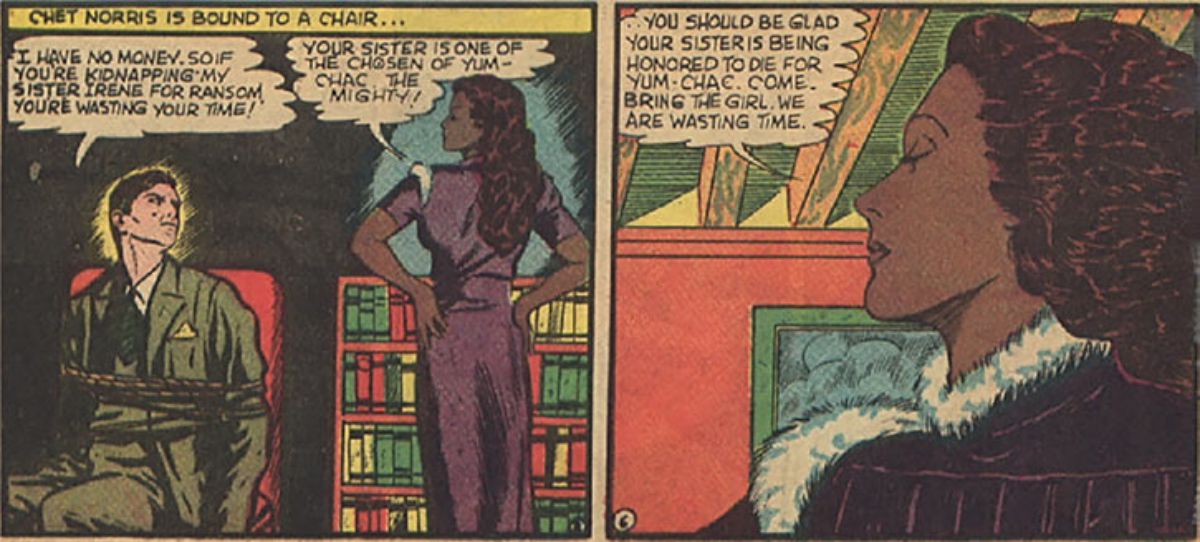 Nyola the Aztec priestess - DC Comics - 1940s art