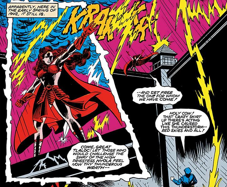 Nyola the Aztec priestess - DC Comics - Lightning storm
