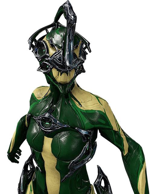 Nyx Prime warframe - closeup