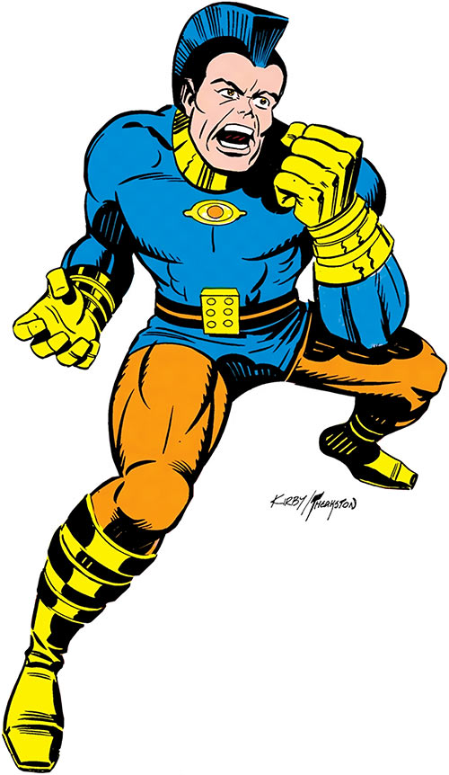 Jack Kirby's OMAC (DC Comics) ready for battle