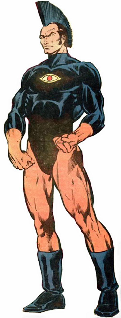 Jack Kirby's OMAC (DC Comics) with the latter uniform