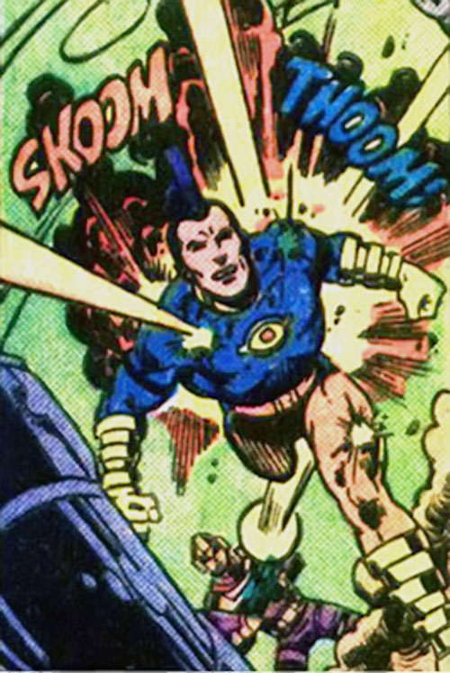 Jack Kirby's OMAC (DC Comics) ignoring gunfire