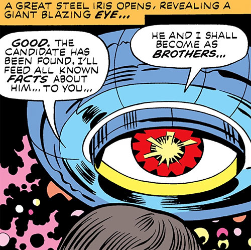 Jack Kirby's OMAC (DC Comics) - Brother Eye talks to Buddy