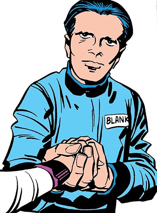 Buddy Blank (Jack Kirby's OMAC) (DC Comics) looking dweeby