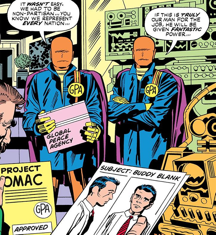 Global Peace Agency (GPA) orange-masked agents