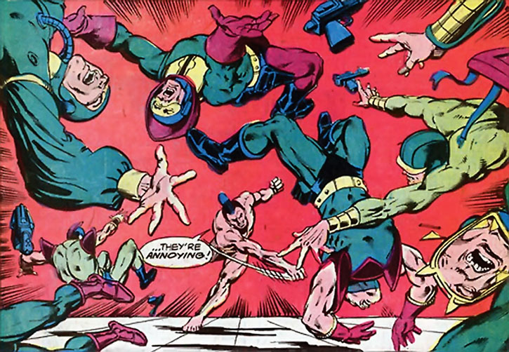 OMAC disperses Kirbyesque soldiers