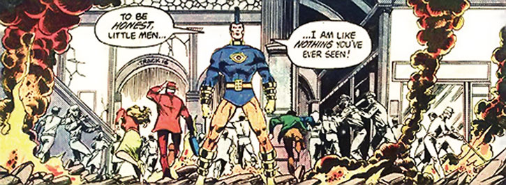 OMAC stands firm in an attacked train station