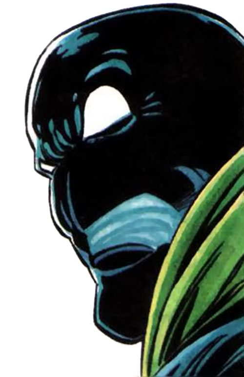 Oblivion (Icon enemy) (Milestone Comics) face closeup