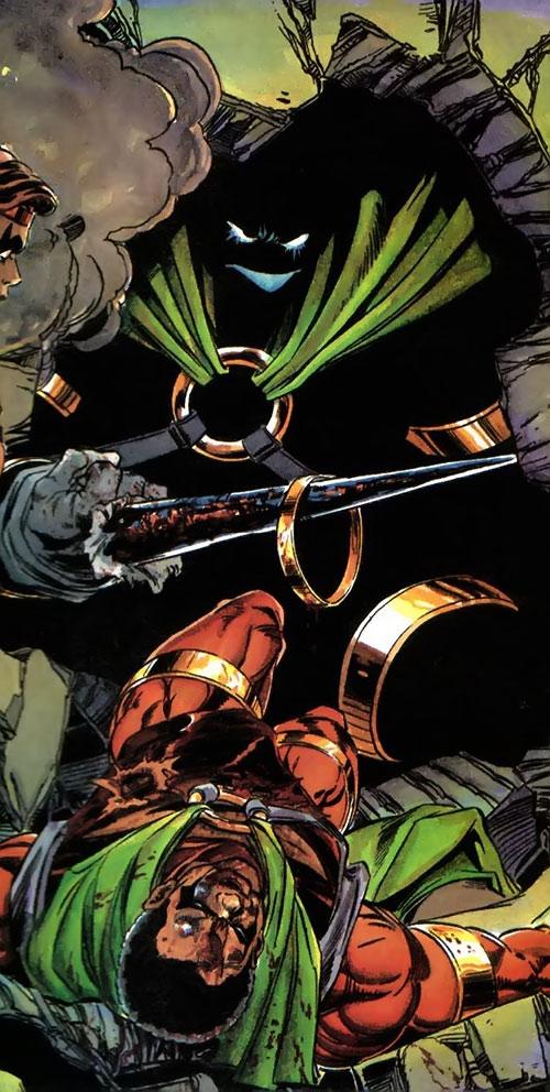 Oblivion (Milestone Comics) vs. a wounded Icon