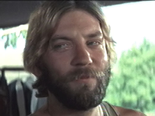 Sergeant Oddball (Donald Sutherland in Kelly's Heroes) face closeup