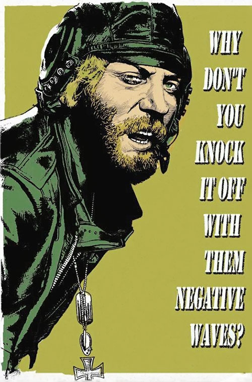 Sergeant Oddball (Donald Sutherland in Kelly's Heroes) negative waves poster