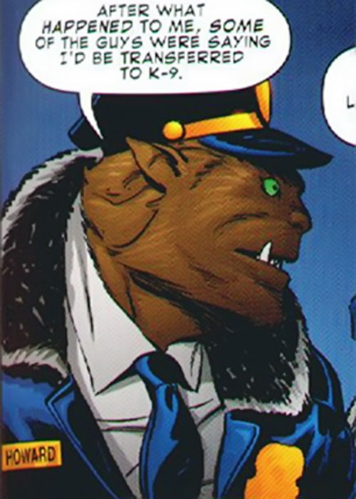 Officer Howard (Leave it to Chance comics) in his patrol blues