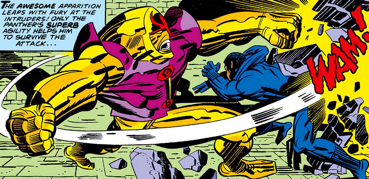 Ogar - Marvel Comics - Jack Kirby - Black Panther enemy - Fight