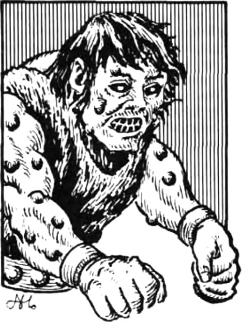 An ogrillon, from the first edition AD&D's Fiend Folio monster manual
