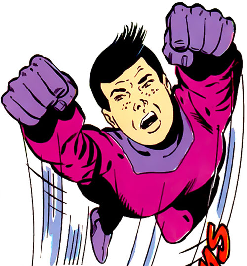 Ol-Vir (Legion of Super Heroes enemy) (DC Comics) in flight