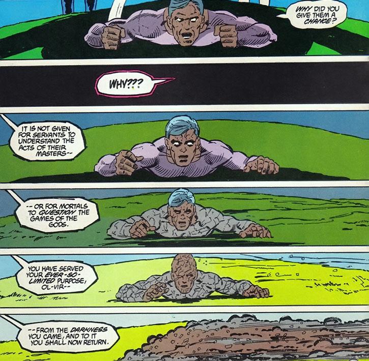 Ol-Vir reduced to dust by Darkseid