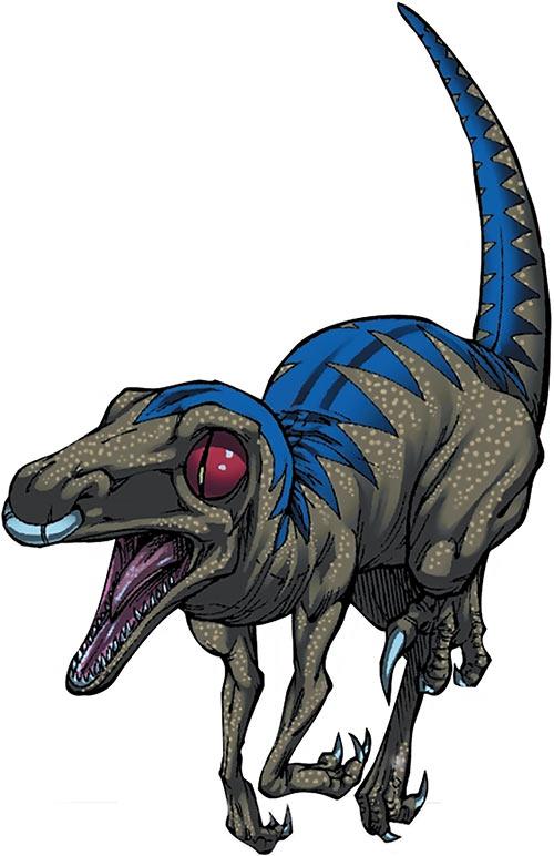 Old Lace - Runaways dinosaur - Marvel Comics- Handbook art