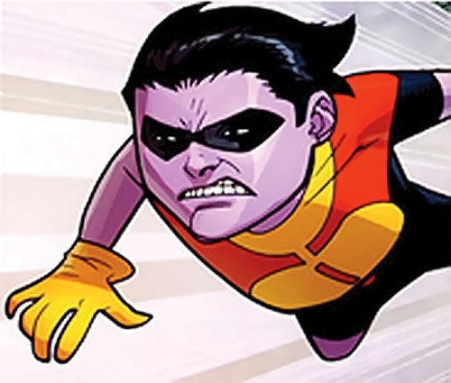 Oliver Grayson (Kid / Young Omni-Man) (Invincible Comics) flies angry