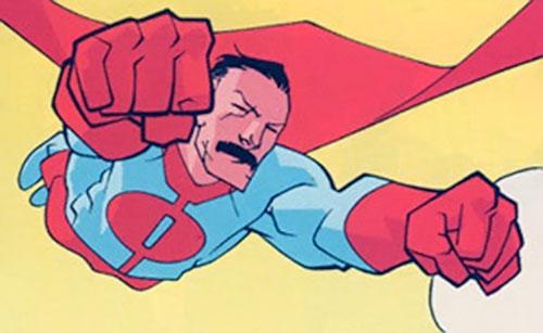 Omni-Man (Invincible character) (Image Comics) in flight