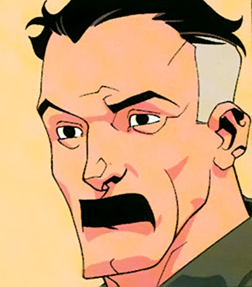 Omni-Man (Invincible character) (Image Comics) face closeup