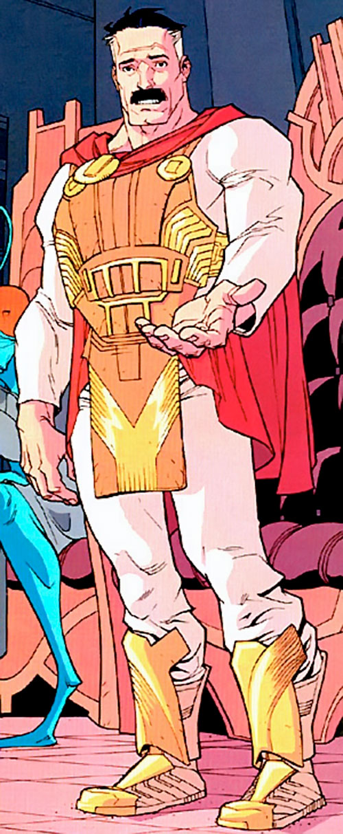 Omni-Man (Invincible character) (Image Comics) in a regal outfit