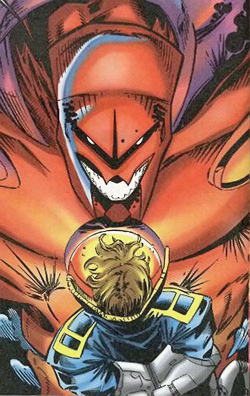 Onslaught (X-Men enemy) (Marvel Comics) facing X-Man