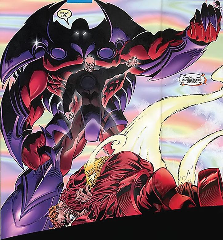 Onslaught with Professor Xavier's image flickering in