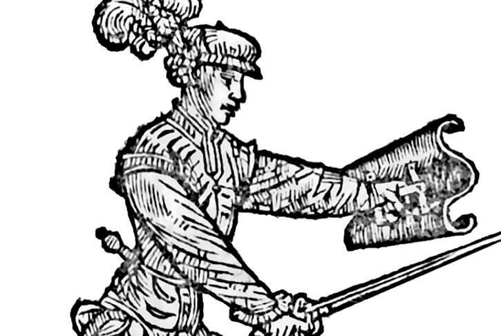 Opera Nova - Bolognese fencing 1536 - Wavy targa