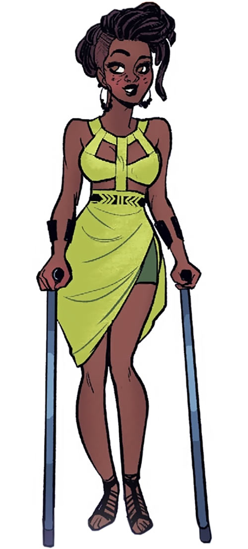 Operator (Frankie Charles) - Batgirl of Burnside - DC Comics - Cool dress and crutches