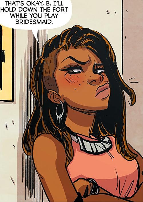 Operator (Frankie Charles) - Batgirl of Burnside - DC Comics - Grumpy
