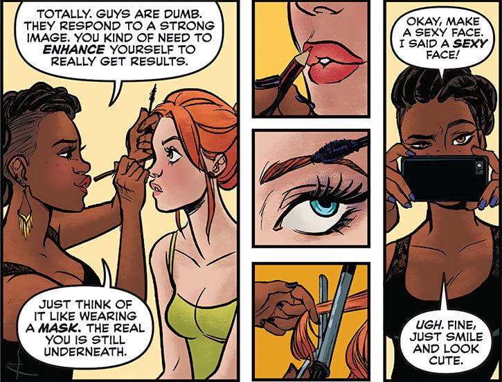 Operator (Frankie Charles) - Batgirl of Burnside - DC Comics - Babs makeup