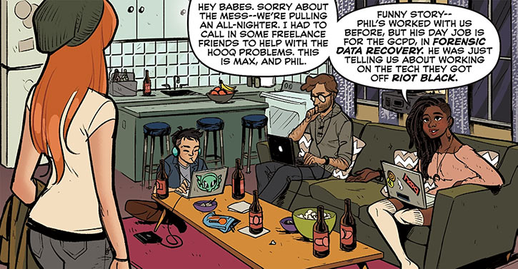 Operator (Frankie Charles) - Batgirl of Burnside - DC Comics - All nighter computers